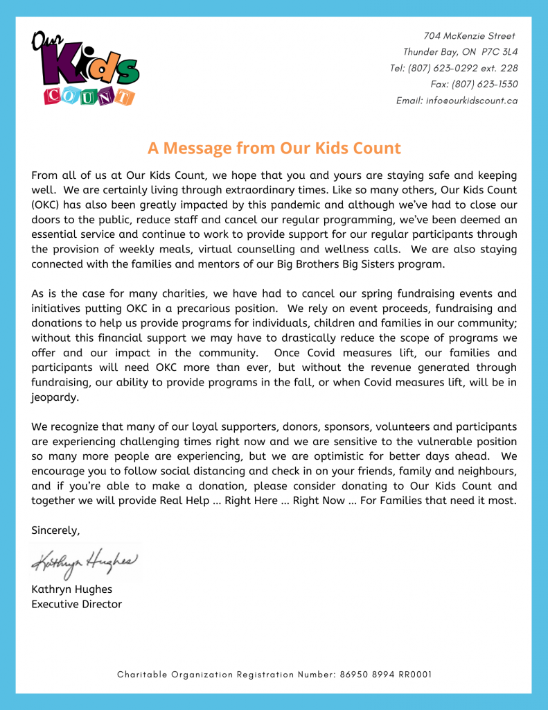 A Message from Our Kids Count